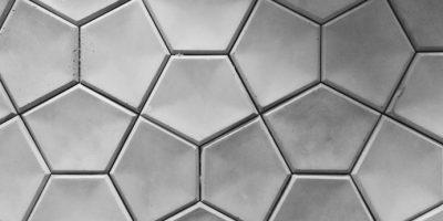 concrete in hexagonal patterns