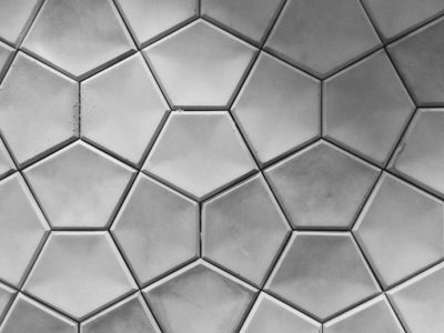 concrete in hexagonal patterns